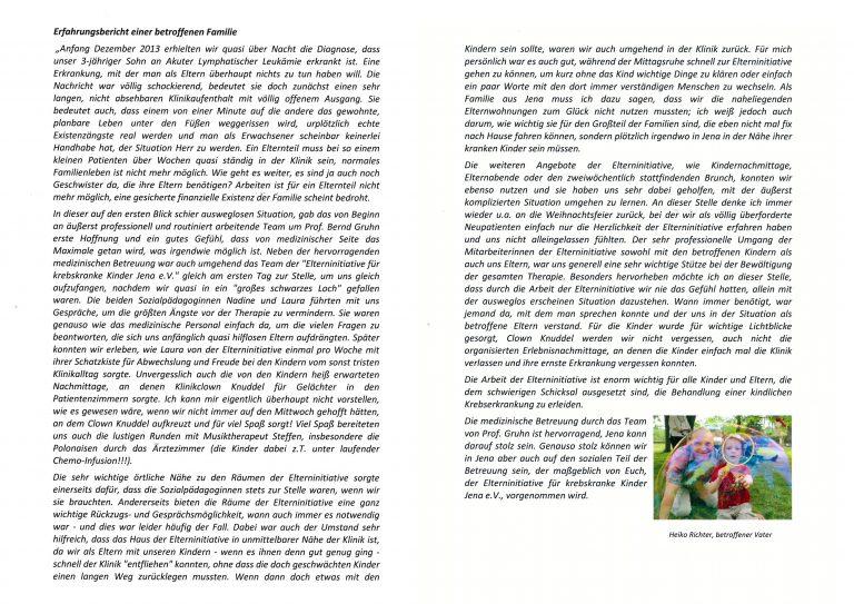 Brief von Heiko Richter, betroffene Familie.